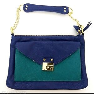 Olivia + Joy colorblock pebbled leather purse